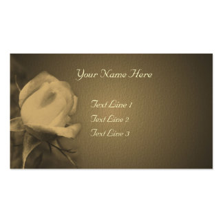 Aged Sepia Rosebud Flower Double-Sided Standard Business Cards (Pack Of 100)