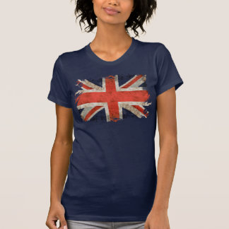 Aged shredded Union Jack T-Shirt