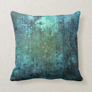 Aged Stone Modern Style Gradient Blue Green Pillow