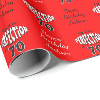 Aged to Perfection at 70 Wrapping Paper