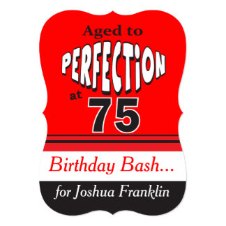 Aged to Perfection at 75 Card