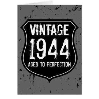 Aged to perfection Birthday greeting card for men
