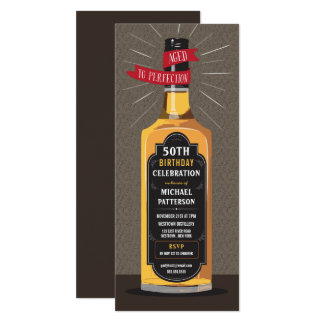 Aged to Perfection Whiskey Big Milestone Birthday Card