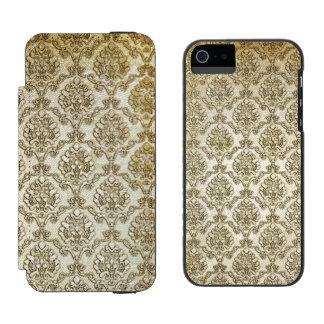 Aged White Damask Incipio Watson™ iPhone 5 Wallet Case