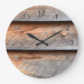 Aged Wood Large Clock