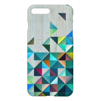 Aged Wood With Modern Colorful Triangles iPhone 8 Plus/7 Plus Case