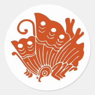 Ageha cho, Japan Classic Round Sticker