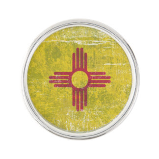Ageing of the New Mexico flag Lapel Pin