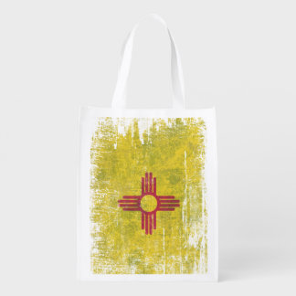 Ageing of the New Mexico flag Reusable Grocery Bag