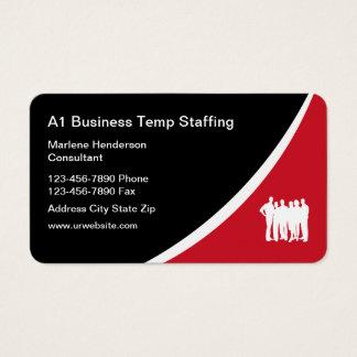 Agence de l'emploi de Temp Cartes De Visite