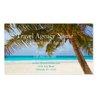 Agence de voyages modèles de cartes de visite