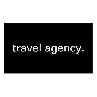 Agence de voyages cartes de visite personnelles