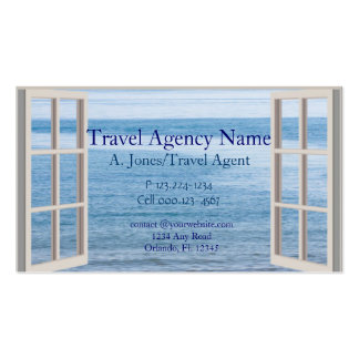 Agence de voyages carte de visite