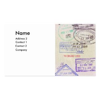 agences de voyages carte de visite