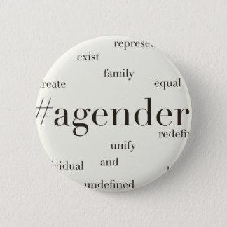 #Agender 2 Inch Round Button