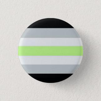 Agender flag 1 inch round button