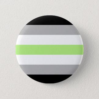 agender pride flag badge 2 inch round button