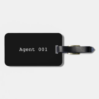 Agent 001 Luggage Tag w/ leather strap