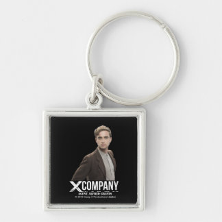 Agent Alfred Graves Silver-Colored Square Keychain