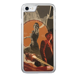 Agent Carter And Howard Stark Collage Carved iPhone 8/7 Case