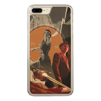 Agent Carter And Howard Stark Collage Carved iPhone 8 Plus/7 Plus Case