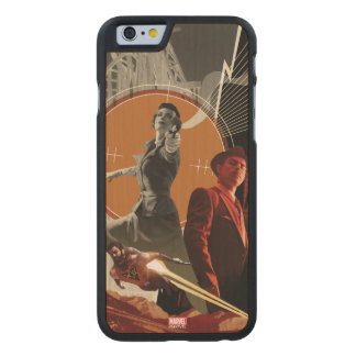 Agent Carter And Howard Stark Collage Carved Maple iPhone 6 Case
