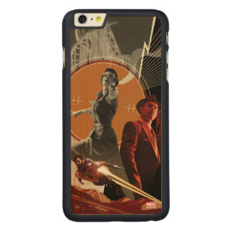 Agent Carter And Howard Stark Collage Carved Maple iPhone 6 Plus Case
