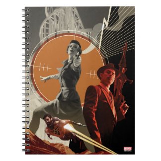 Agent Carter And Howard Stark Collage Notebooks