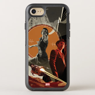 Agent Carter And Howard Stark Collage OtterBox Symmetry iPhone 8/7 Case