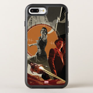 Agent Carter And Howard Stark Collage OtterBox Symmetry iPhone 8 Plus/7 Plus Case