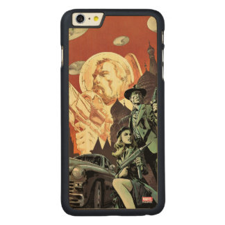Agent Carter With Howard Stark Carved Maple iPhone 6 Plus Case