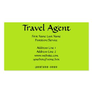 Agent de voyage cartes de visite professionnelles
