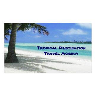 Agent de voyage modèles de cartes de visite