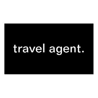 Agent de voyage modèle de carte de visite