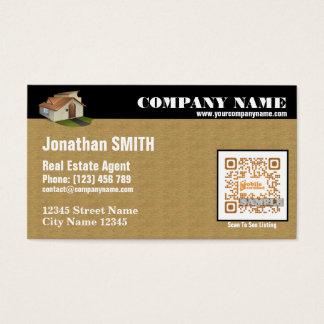 Agent immobilier cartes de visite