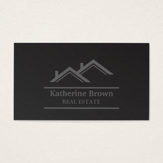 Agent immobilier professionnel minimaliste moderne cartes de visite