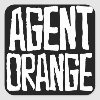 "Agent Orange ""Thrashed"" Logo Stickers Skate Punk"
