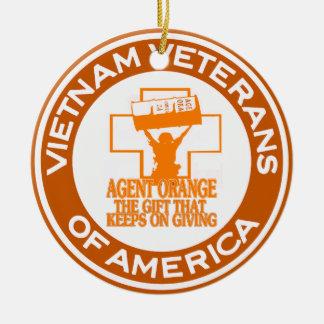 Agent Orange VVA Round Ceramic Ornament