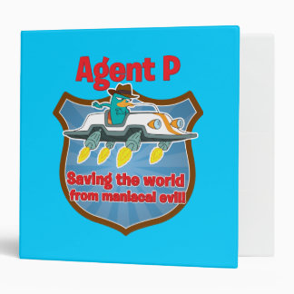 Agent P Saving the world from maniacal evil Car Vinyl Binder