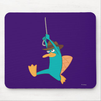 Agent P Swinging from Rope Mouse Pad