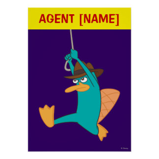 Agent P Swinging from Rope Poster