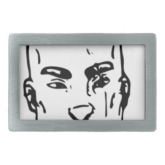 Agent Street Smirk Rectangular Belt Buckle