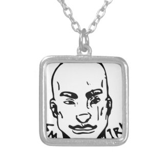 Agent Street Smirk Silver Plated Necklace