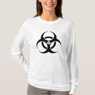 Agents In Red Biohazard Ladies AA Hoody Long Sleev