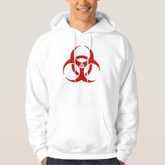 Agents In Red Biohazard Style Basic Hooded Sweat Hoodie