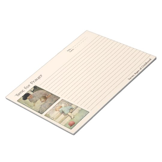 Ages of Childhood Prayer Notebook Notepad