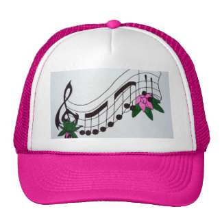 Aggelikis Musical Notes Design Trucker Hat