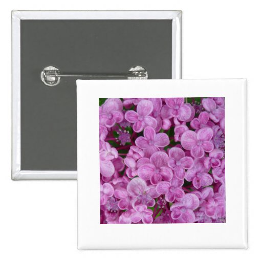 Aggelikis Purple Hydrangea Design Pinback Buttons
