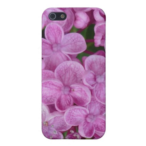 Aggelikis Purple Hydrangea Design Case For iPhone 5