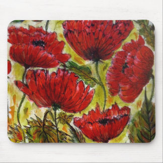 Aggelikis Red Poppies Mouse Pad